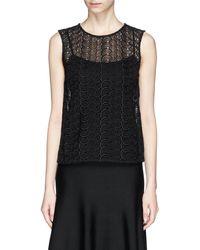 Diane von Furstenberg 'Betty' Crochet Lace Sleeveless Top - Lyst