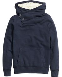 H&M Top with A Pile-lined Hood - Lyst