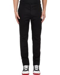 Givenchy Cotton Twill Biker Pants - Lyst