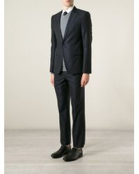 Emporio Armani Blue Textured Suit - Lyst