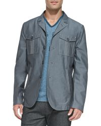 John Varvatos Doublepocket Military Jacket - Lyst