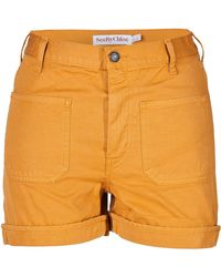Chloé Cotton Highwaisted Shorts - Lyst