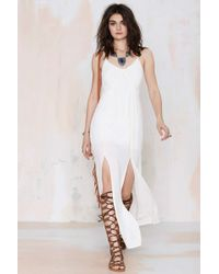 Nasty Gal Aphrodite Crepe Maxi Dress - Lyst