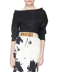Donna Karan New York Structured Bateau-Neck Top - Lyst
