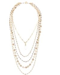Nicole Miller - Layered Beaded Necklace - Lyst