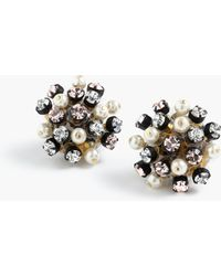 J.Crew | Crystal And Pearl Studded Earrings | Lyst