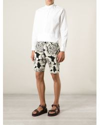 Christian Pellizzari - Floral Print Shorts - Lyst