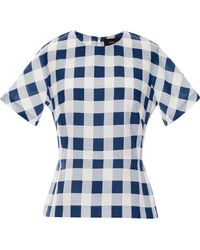 Derek Lam Gingham Faille Top - Lyst