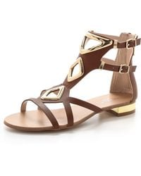 Carvela Kurt Geiger Kupid Flat Sandals Tan - Lyst