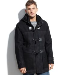 Marc New York Wesley Hooded Wool-Blend Plaid Duffle Coat - Lyst
