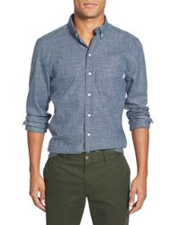 Haspel - 'flannelized' Trim Fit Cotton Sport Shirt - Lyst