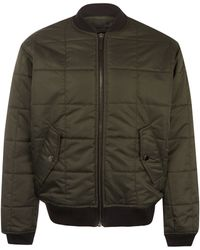 Marc By Marc Jacobs - Khaki Quilted Nylon Bomber Jacket - Lyst