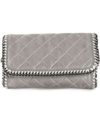 Stella McCartney 'Falabella' Quilted Clutch - Lyst