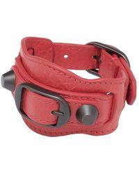 Balenciaga Red Classic Bracelet - Lyst