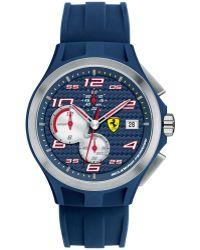 Scuderia Ferrari Men'S Chronograph Lap Time Blue Silicone Strap 44Mm 830075 - Lyst