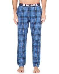 Diesel Cotton-jersey Pyjama Bottoms - For Men blue - Lyst