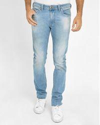 DIESEL | Light-blue Thavar Skinny Jeans | Lyst