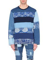 Junya Watanabe Horizontal Striped Sweatshirt - For Men - Lyst