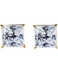 Carat* - Princess 0.5ct Solitaire Stud Earrings - Lyst