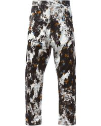McQ by Alexander McQueen Floral Drop Crotch Jeans - Lyst