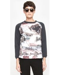 Carven Seascape Sweatshirt - Lyst