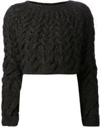 The Row Cropped Knit Sweater - Lyst
