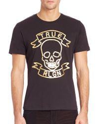 True Religion | Neon Skull Graphic Tee | Lyst