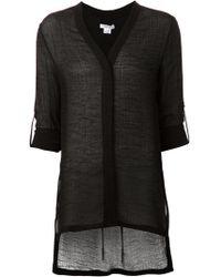 Helmut Lang V-Neck Long T-Shirt - Lyst