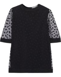 Chloé Polka Dot Embroidered Tulle Top - Lyst