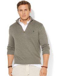 Ralph Lauren Polo Big and Tall Half-zip Mockneck Sweater - Lyst