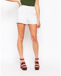 First & I - Polka Dot Shorts - Lyst
