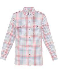 Current/Elliott The Perfect Plaid Cotton Shirt - Lyst