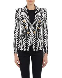 Balmain Tribal Jacquard Double-Breasted Jacket - Lyst