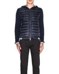 Moncler Men'S Cardigan Jacket With Hood - Lyst