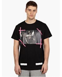 Off-white Men'S Black Caravaggio Printed T-Shirt - Lyst