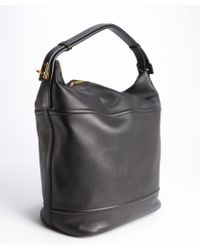 Tom Ford Black Leather Oversized Bucket Shoulder Bag - Lyst