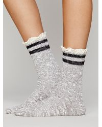 Free People Rugby Ruffle Ankle Sock - Lyst