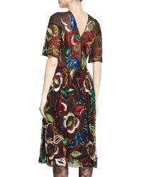 Libertine - Sequined Sheer Half-sleeve Dress - Lyst