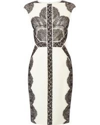 Karen Millen Lace Pencil Dress - Lyst
