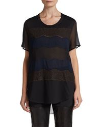 3.1 Phillip Lim Lace Silkpaneled Hilo Top - Lyst