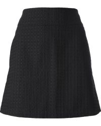 Victoria Beckham Perforated Skirt - Lyst