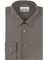 Calvin Klein Regular Fit Micro Check Dress Shirt - Lyst