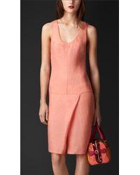 Burberry Textured Technical Silk Dress - Lyst