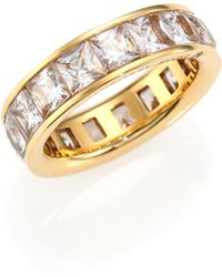 Michael Kors | Park Avenue Glam Princess Eternity Band Ring/goldtone | Lyst