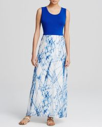 Calvin Klein Chiffon Skirt Sleeveless Maxi Dress - Lyst