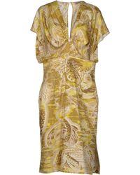 Emilio Pucci Green Knee-length Dress - Lyst