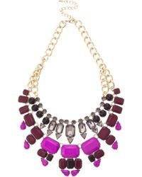 Oasis 2 Row Jewelled Necklace - Lyst