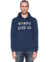 Scotch & Soda Hooded Sweat Blue And White Serie - Lyst