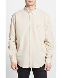 Lacoste Regular Fit Woven Shirt white - Lyst