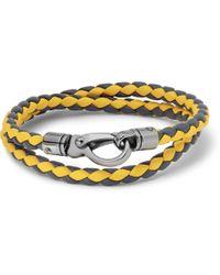 Tod's Wovenleather Wrap Bracelet - Lyst
